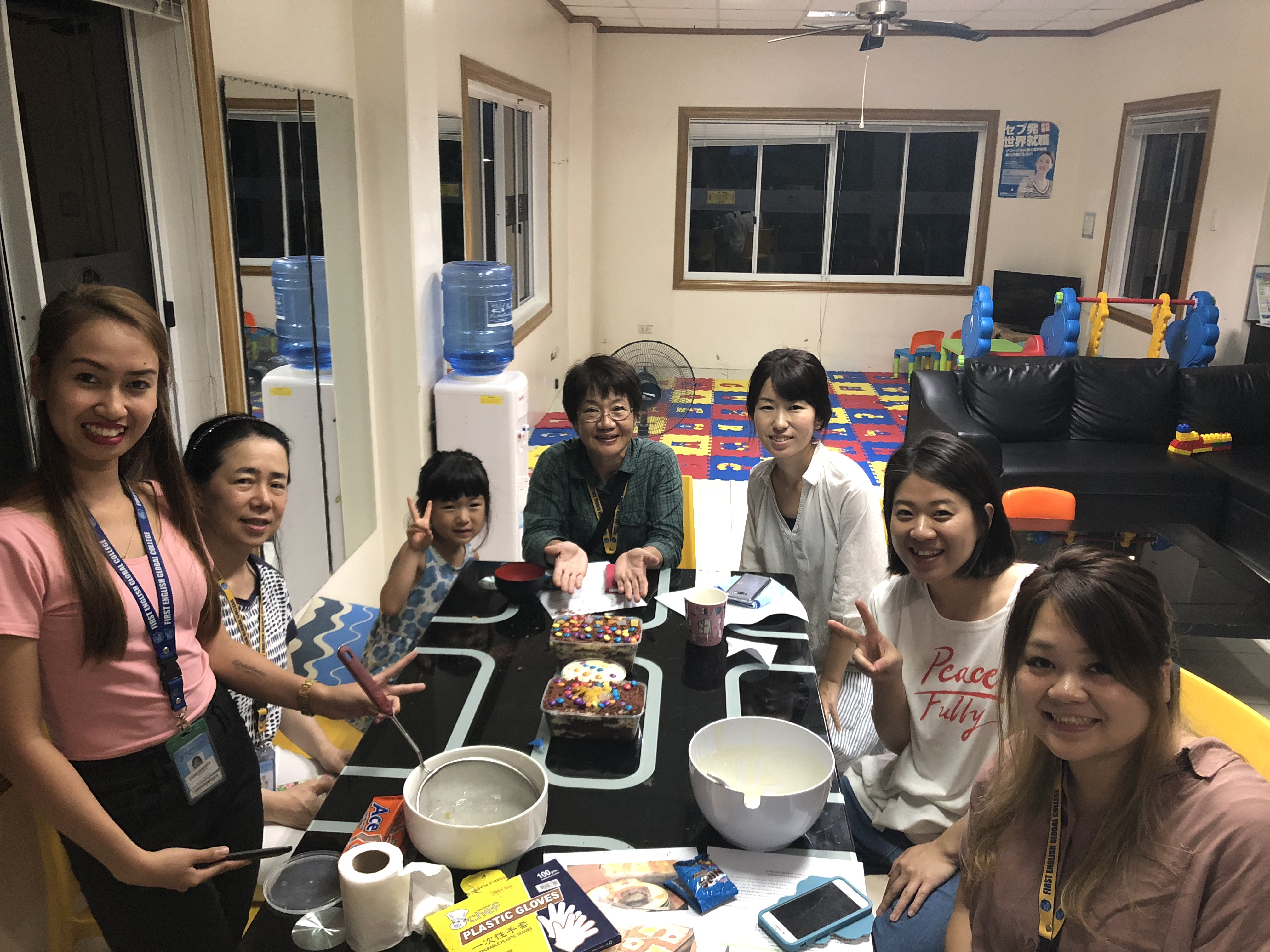 First English Global College 年齢別留学者数について